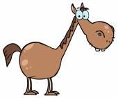 Cartoon Character Horse — Stock Vector