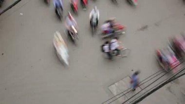 Crazy motorbikes traffic — Stock Video