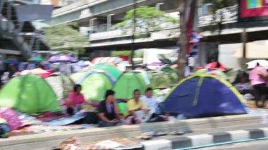 Bangkok shutdown protests — Stock Video