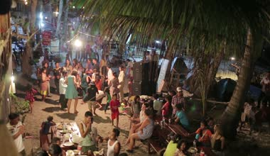 Local people celebration — Stock Video