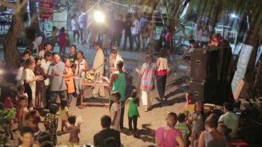 Lokaal volksfeest — Stockvideo