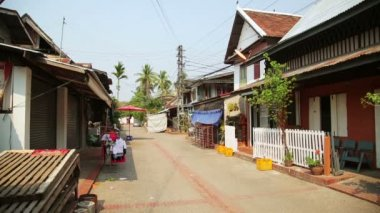Luang Prabang streets — Stock Video
