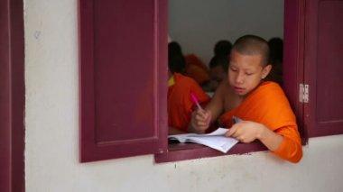 Buddhist school education — Stock Video