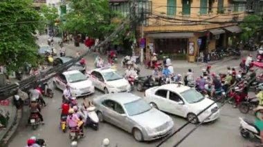 Traffico pazzesco motocicli — Video Stock