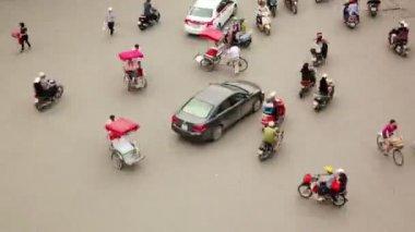 Crazy motorbike traffics timelapse — Stock Video