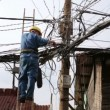 Electrician fixing electric cables — Stock Video #53391549