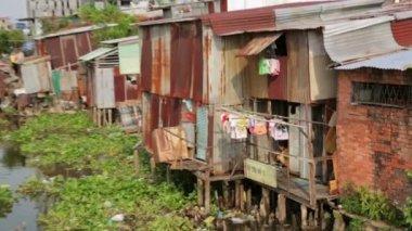 City slums — Stock Video