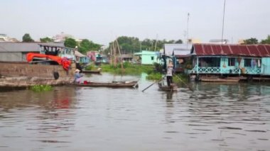 Ordinary life around mekong delta — Stock Video