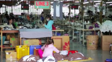 Textile factory — Stock Video