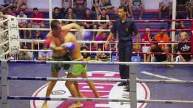 Muay Thai box matches — Stock Video