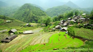 Akha villages in Sapa, — Stock Video