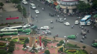 Saigon downtown traffic — Stock Video