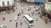 Crazy motorbike traffic — Stock Photo