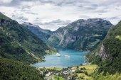 View to the Geirangerfjord — Stock Photo