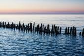 Groyne on shore — Zdjęcie stockowe