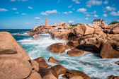Atlantic ocean coast in Brittany — Stock Photo