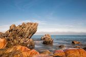 Costa del océano atlántico en bretaña — Foto de Stock
