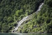Waterval in de geirangerfjord — Stockfoto