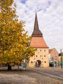 Historical building in Rostock — Stock Photo