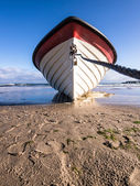 Fishing boat on the beach of Bansin — Stock Photo