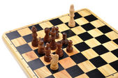 Checkmate made by one horse — Stock Photo