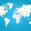 ������, ������: The World Map with The Frontiers and Country Names