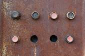 An old rusty control panel — Foto de Stock