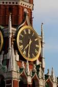 The Spasskaya Tower's watch — Stock Photo