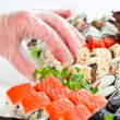 Table with seafood — Stock Photo #52161189