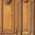 Fragment of old wooden door — Stock Photo #52873317