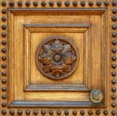 Fragment van houten deur — Stockfoto