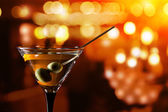 Glass with martini  — Stock Photo