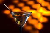 Dry martini with olives  — Stock Photo