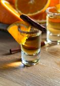 Tequila with orange and cinnamon  — Stockfoto