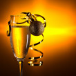 Glass with champagne — Stock Photo #61072043