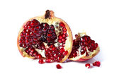 pomegranate isolated on  white  — Stock Photo