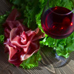 Jamon and red wine — Stock Photo #67813585