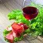 Jamon and red wine — Stock Photo #67813589