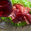 Jamon and red wine — Stock Photo #70123835