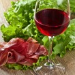 Jamon and red wine — Stock Photo #73212053