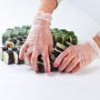 Table with sushi — Stock Photo #74440001