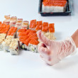 Table with sushi — Stock Photo #74440033