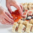 Table with sushi — Stock Photo #76684241