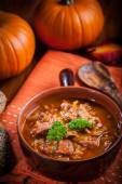 Gourmet hearty goulash soup  — Стоковое фото