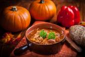Gourmet hearty goulash soup  — Photo