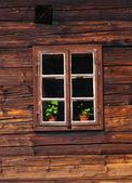 Wooden house facade — Stock Photo
