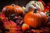 Pumpkins for Thanksgiving and  Halloween — Stockfoto