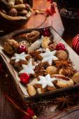 Homemade gingerbread and cookies for Christmas — Stock Photo