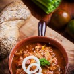 Hearty goulash soup — Stock Photo #60129867