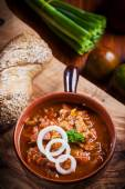 Hearty goulash soup  — Stock Photo